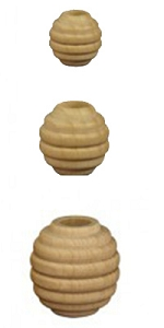Wooden Beehive Beads - Natural