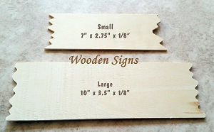 Wooden Sign / Plaque - Blank