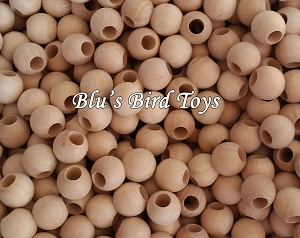 20mm Wooden Beads - Natural