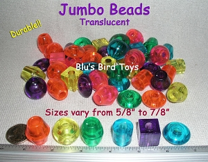 Large Translucent Beads