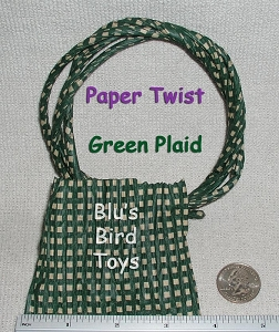 Paper Twist - Green Plaid