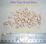 Mini Wood Disc Beads - Super Small, Natural 100 pc.