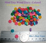 Mini Wood Disc Beads - Super Small in Color