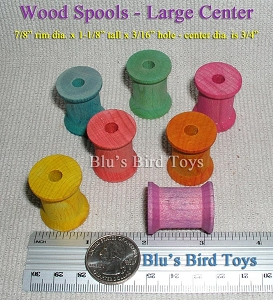 Wooden Spools - Medium 14 pc.