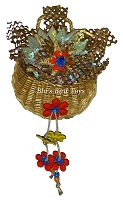Dangling Flowers Basket