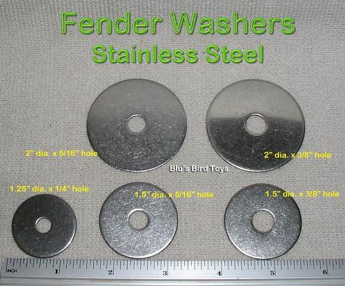 Stainless Steel Fender Washer 1/4 x 1.25