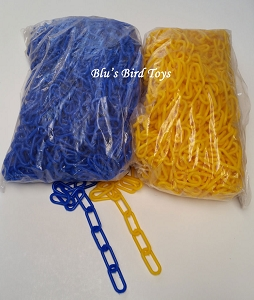4mm Plastic Chain - Blue ONLY