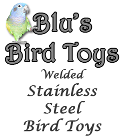 Blu's Bird Toys - Welded Stainless Steel Bird Toys