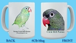 Coral Billed Pionus Mug