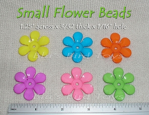 Plastic Flower Pedals Beads