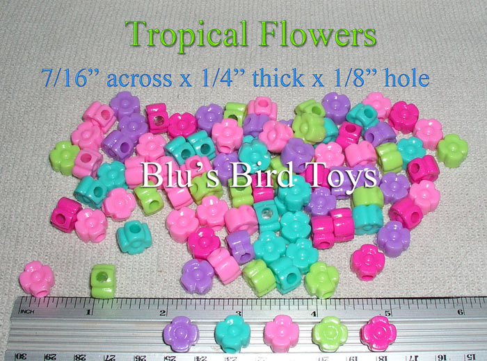 Tropical Flower Beads