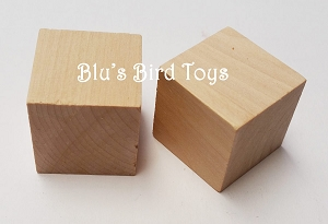 Hardwood Cube Blocks - 100 pc.