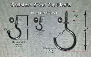S/S Cup Hooks