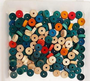 Wooden Slab Wheels - Colored