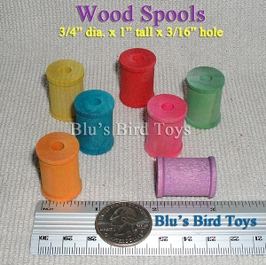 Colored Wooden Spools