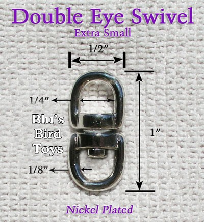 This image shows the actual dimensions of the swivel.