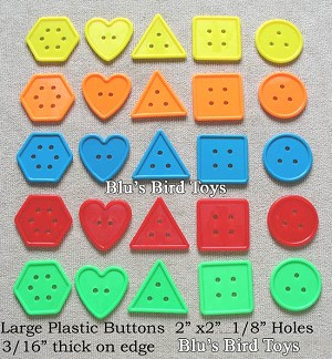 "2"" Buttons - 25 pc. set."
