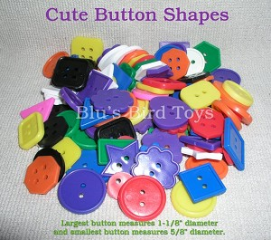 Cute Button Shapes - a 6 oz. bag; approx. 135-150 buttons