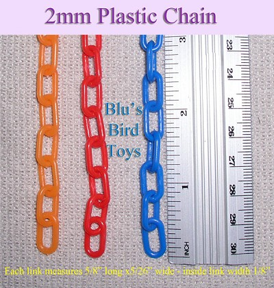 2mm Plastic Chain (3 feet) - Orange Only.