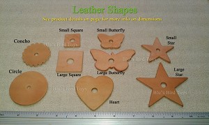 Choose the leather shape(s) you want, see dimensions in product description.