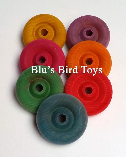 "2-1/8"" Wooden Wheels - Colored"